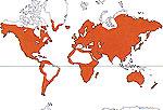 Carte de repartition des Portulacaceae