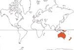 Carte de repartition des Xanthorrhoeaceae